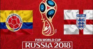 مباراة كولومبيا و إنجلترا كأس العالم روسيا
