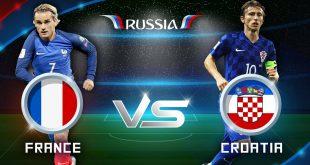 مباراة فرنسا وكرواتيا في نهائي كأس العالم روسيا 2018