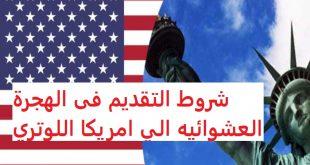 شروط التقديم فى الهجرة العشوائيه الي امريكا اللوتري