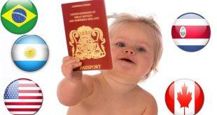 التجنيس بالولادة الدول التي تمنح جنسيتها بالولادة بها