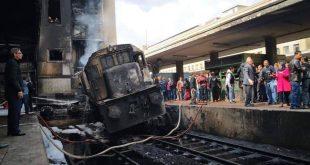 أسماء المصابين في حادث قطار محطة مصر